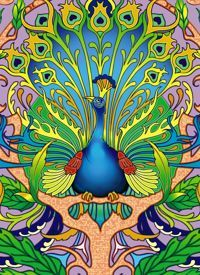 Art Nouveau Peacock Notebook